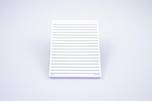Low Vision white paper pad, thick line, no margin