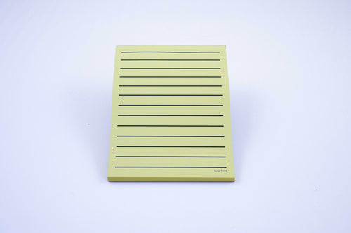 Low Vision yellow paper pad, thick line, no margin