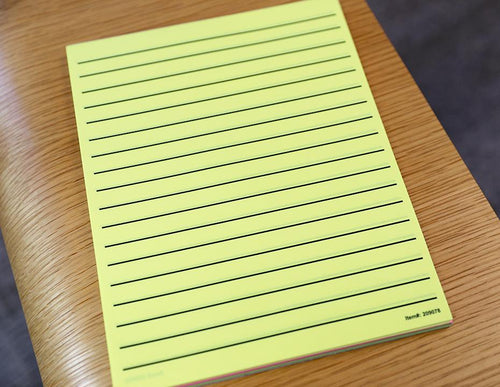 Low Vision Thick Line Paper - Neon Yellow