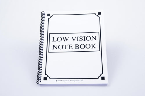 Low Vision Notebook, White Paper/Bold Lines