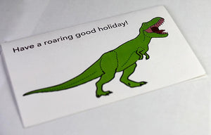 Happy Holidays Greeting Card - Dinosaur