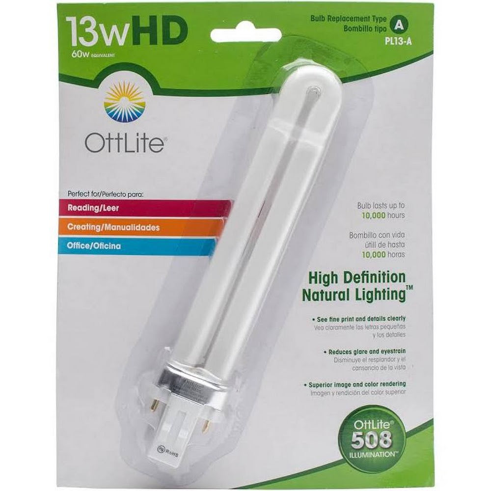 Ott-Lite Replacement Bulbs: 13 Watt(4 prong)