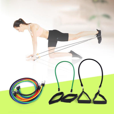 11-Piece Resistance Bands For Yoga Or Pilates