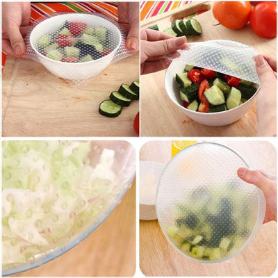 Food Stay Fresh Reusable Silicone Wraps For Bowls