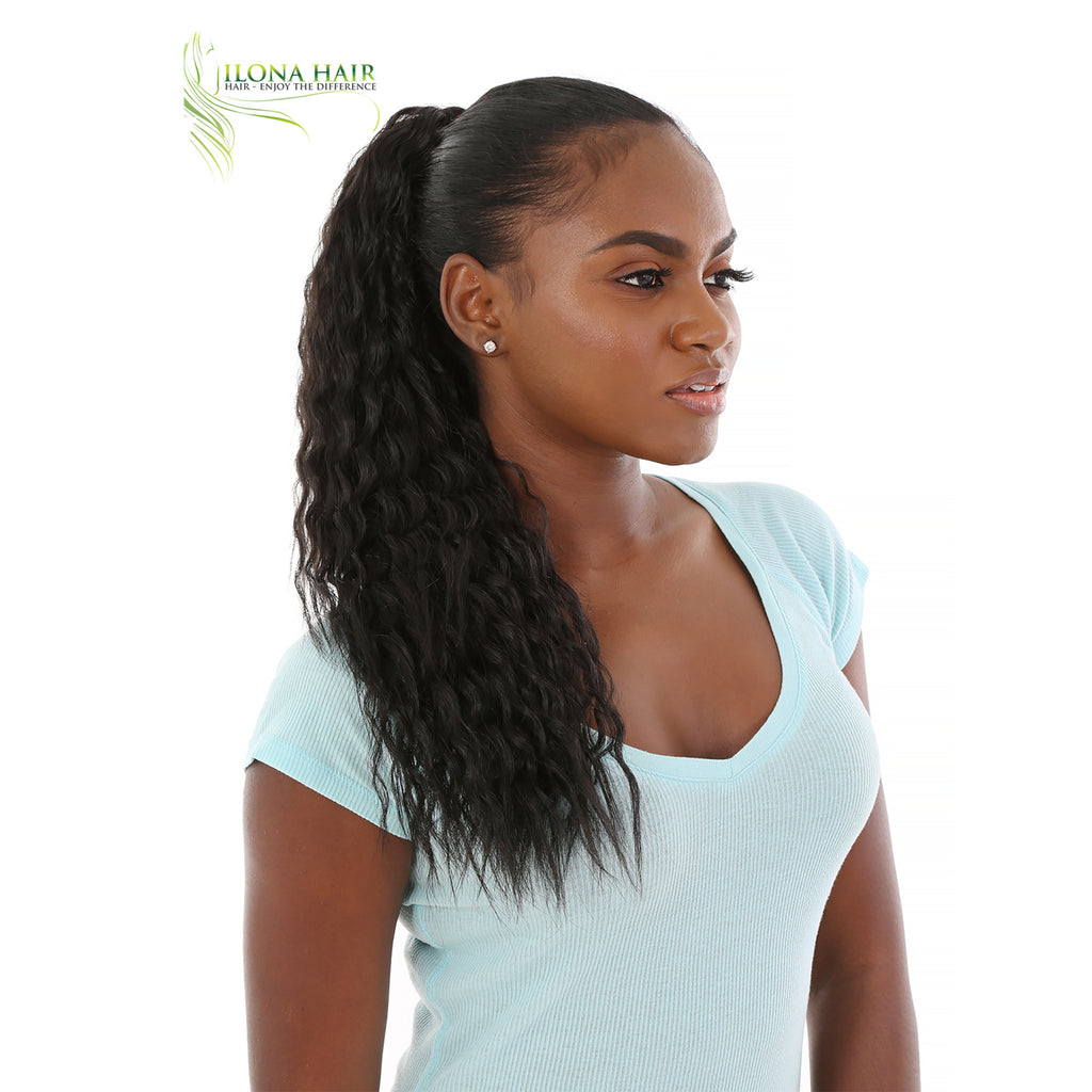 Caymana | Synthetic Ponytail (Drawstring) | 11 Colors PONYTAILS - Ilona Hair - Enjoy The Difference