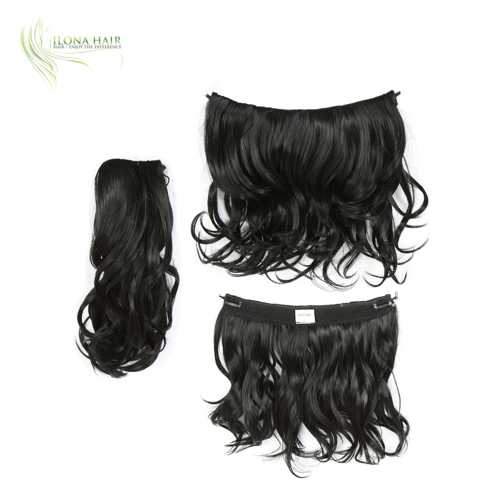 Cleta | Synthetic Heat Friendly Extensions (Non Clip-In) | 1 Color EXTENSIONS - Ilona Hair - Enjoy The Difference