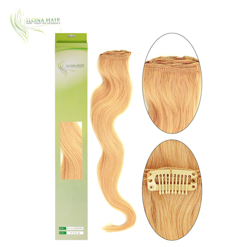 Human Hair Clip-In Extensions (8 Pcs) | 12 Colors EXTENSIONS - Ilona Hair - Enjoy The Difference