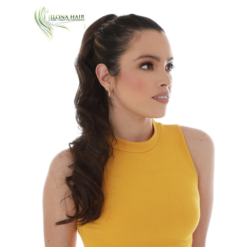 Coral | Synthetic Heat Friendly Ponytail (Drawstring) | 11 Colors PONYTAILS - Ilona Hair - Enjoy The Difference