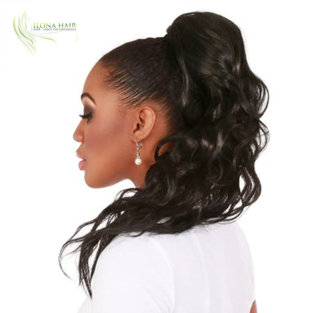 Cora | Synthetic Heat Friendly Ponytail (Drawstring) | 11 Colors PONYTAILS - Ilona Hair - Enjoy The Difference