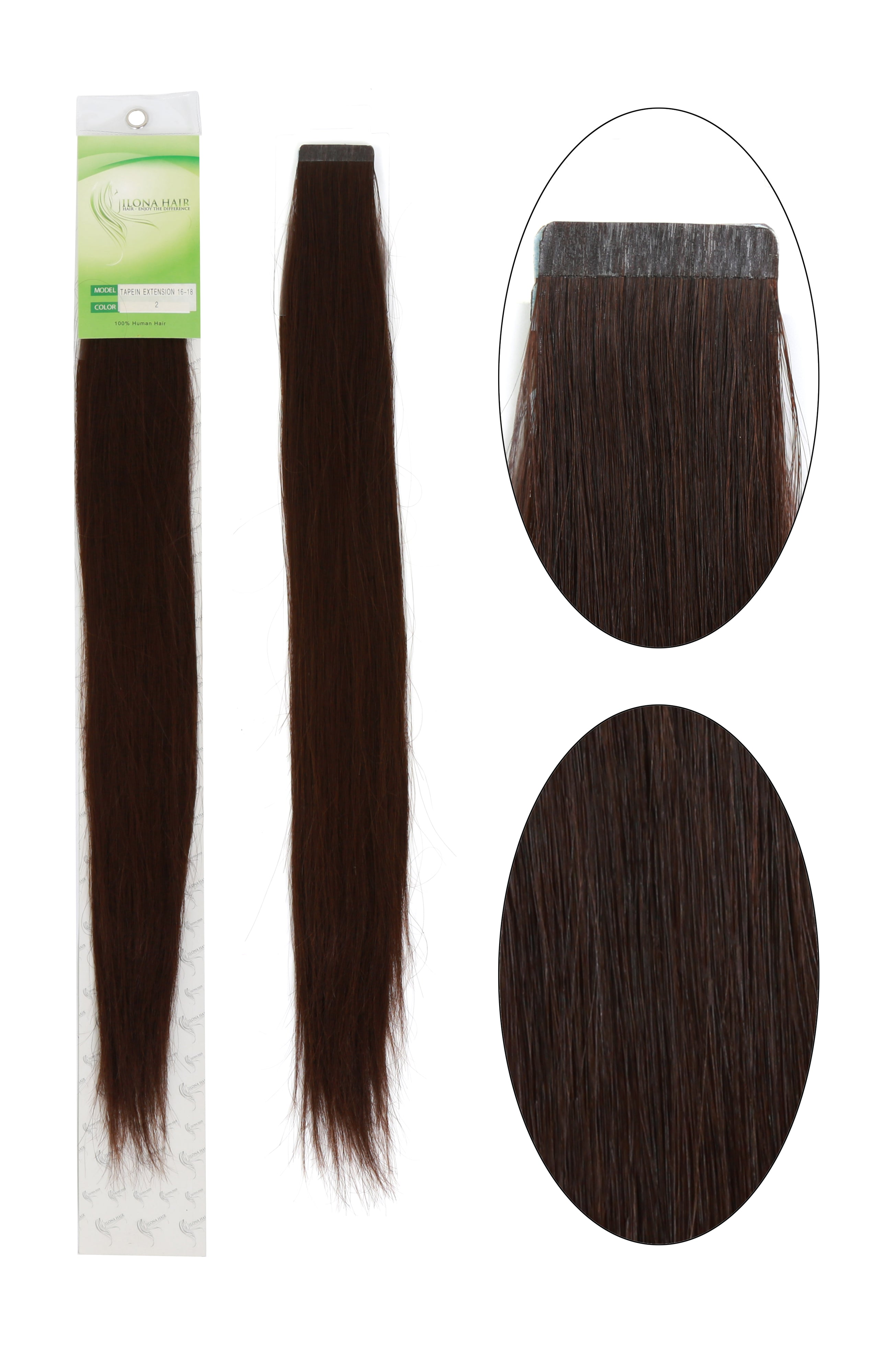 18 32 Human Hair Tape In Extensions 12 Colors Ilona Hair