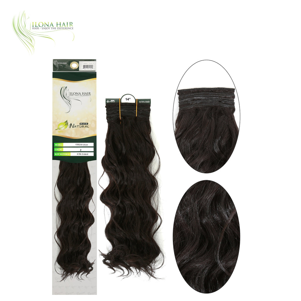Porsche | Human Hair Blend Extensions (Non Clip-In) | 9 Colors EXTENSIONS - Ilona Hair - Enjoy The Difference