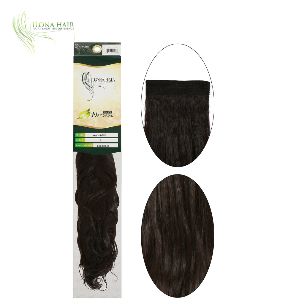 Priscilla | Human Hair Blend Extensions (Non Clip-In) | 4 Colors EXTENSIONS - Ilona Hair - Enjoy The Difference