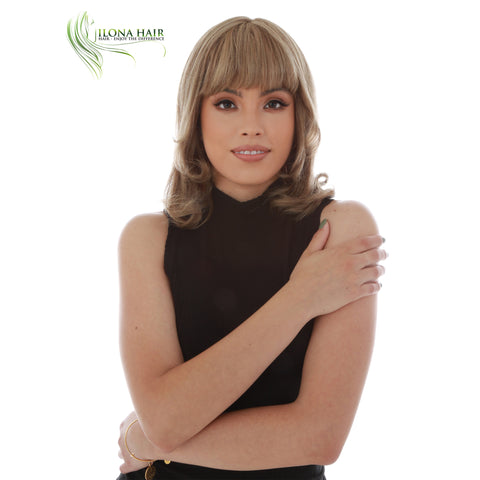 Sandra | Human Hair Wig (Mono Top) | 3 Colors WIGS - Ilona Hair - Enjoy The Difference