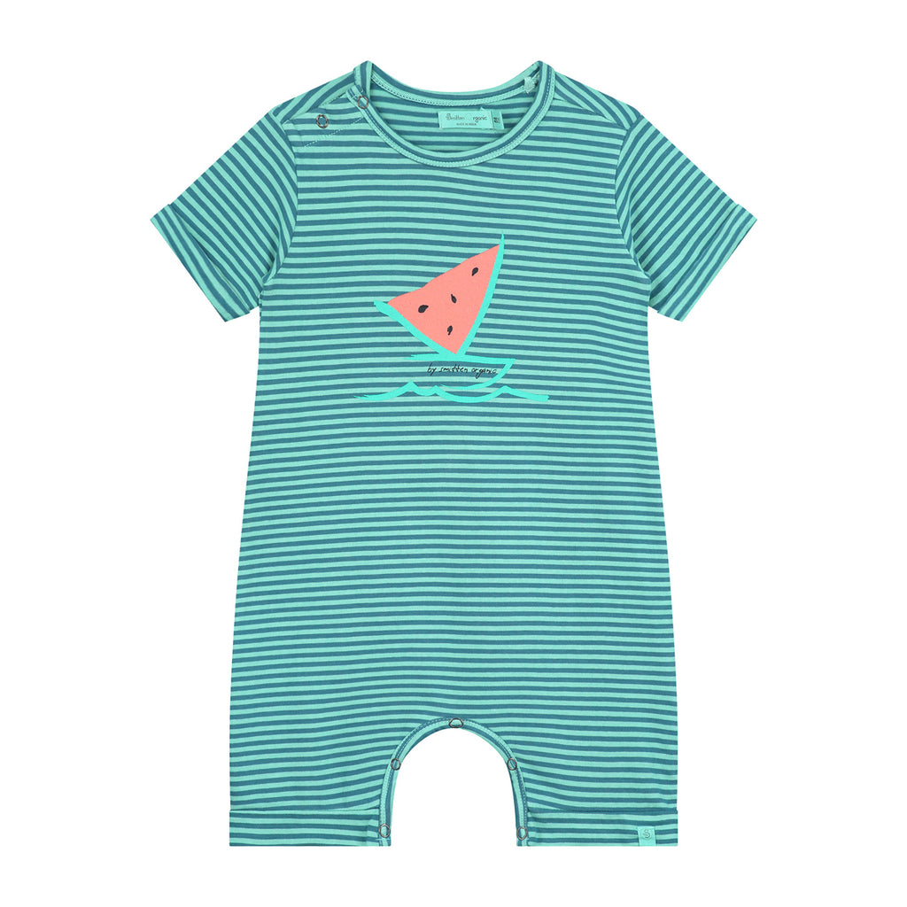 Watermelon Boat Striped Playsuit