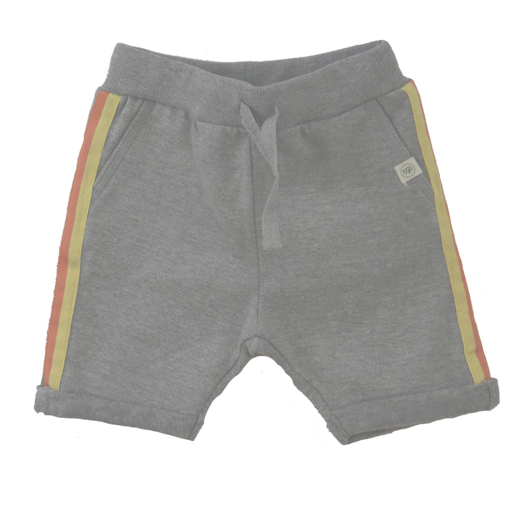 Melange Cotton Brushed Fleece Shorts