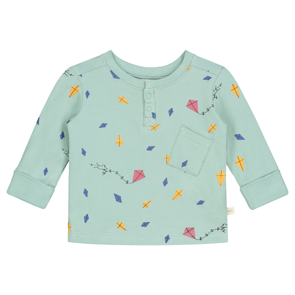 Smitten Organic Essentials - Long sleeves T-Shirt with Kites Print (Lotte van Dijck voor Smitten Organic)