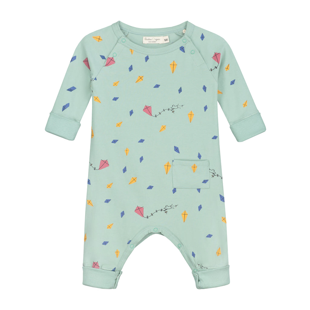 Smitten Organic Essentials - Long sleeves Playsuit with Kites Print (Lotte van Dijck voor Smitten Organic)