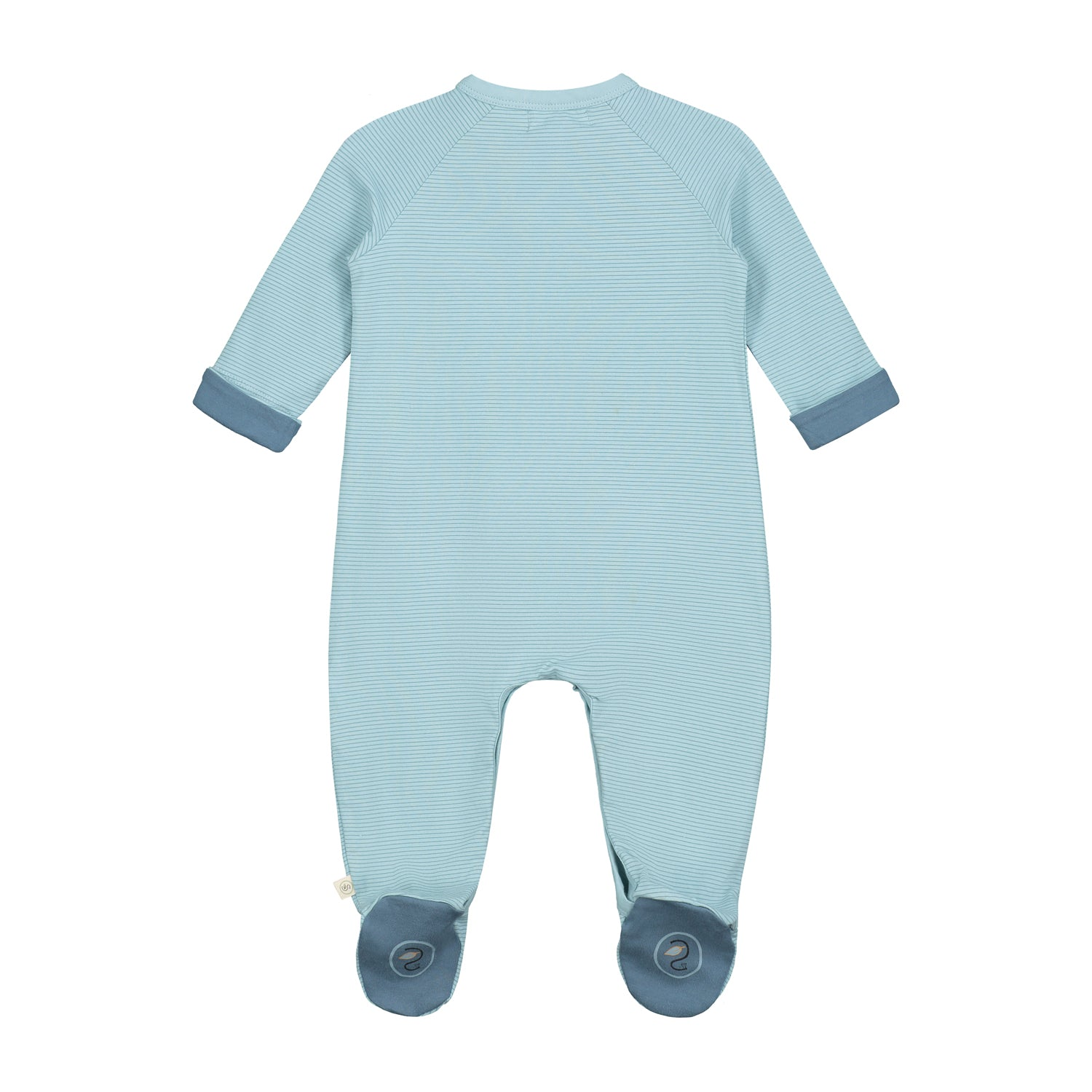 Smitten Organic Essentials - Playsuit with Foot Soft Green Back