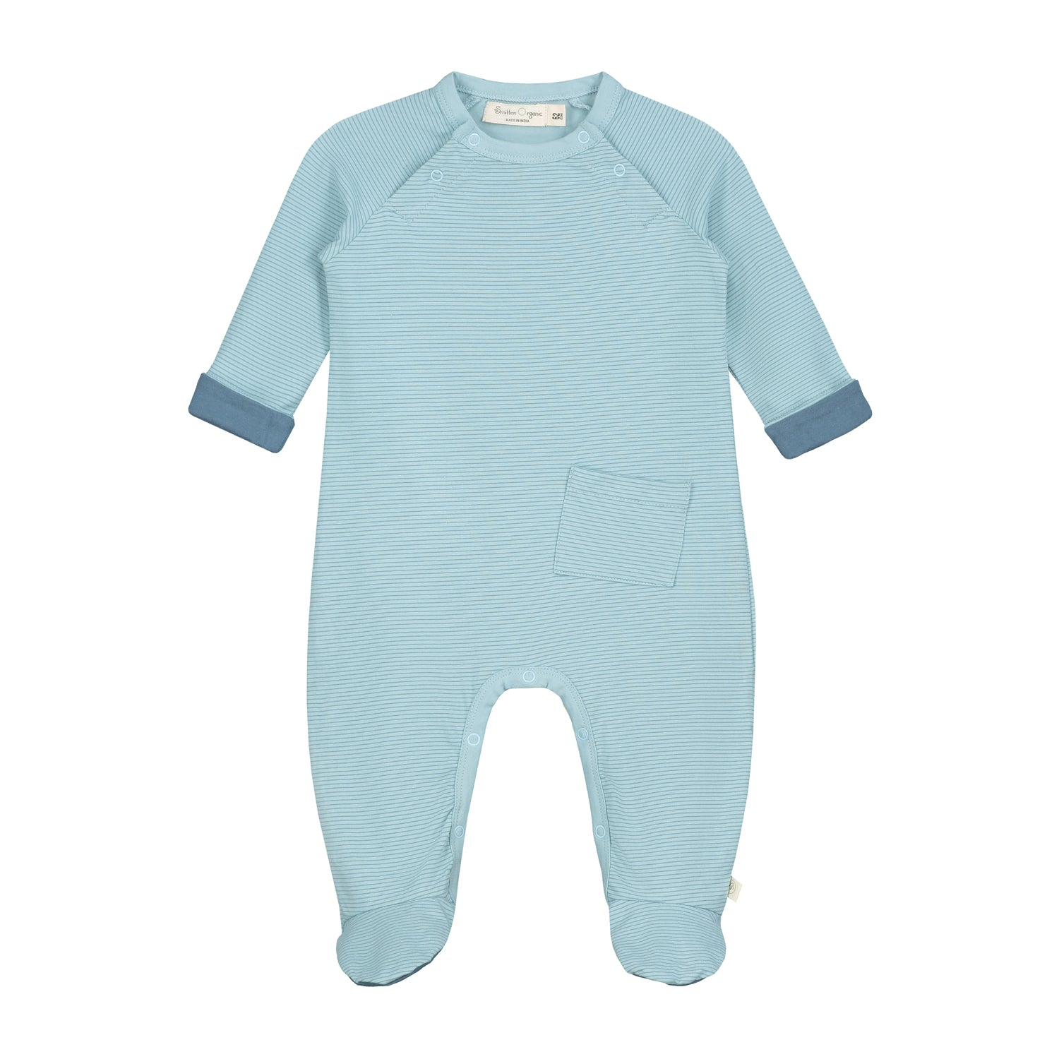 Smitten Organic Essentials - Playsuit with foot - Soft Green