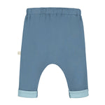 Smitten Organic Essentials - Wide pant Grey Blue with Logo Back
