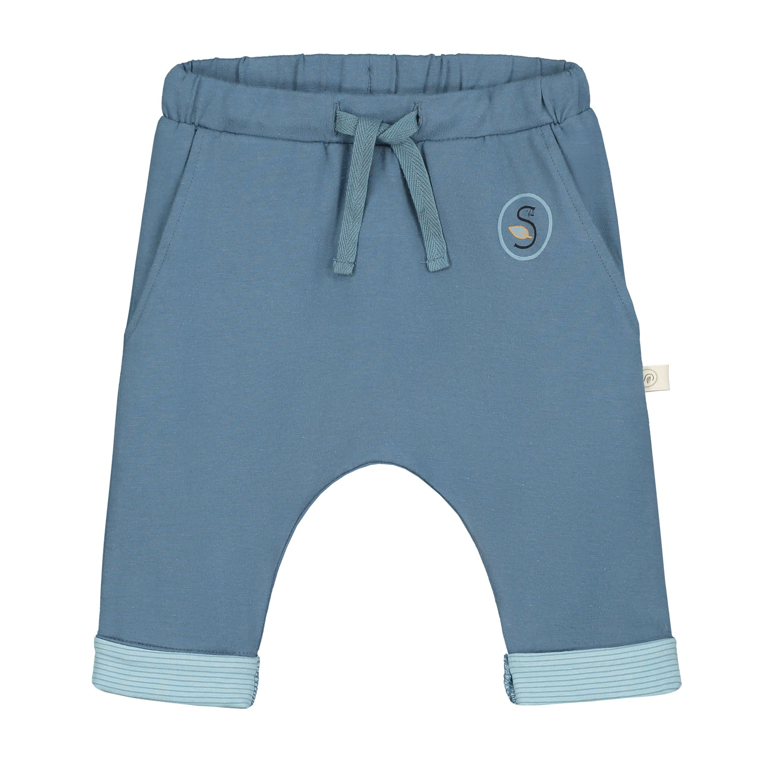Smitten Organic Essentials - Wide pant Grey Blue with Logo