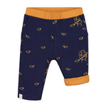 Smitten Organic  - Reversible Sweatpant with Hedgehog collecting the leaves