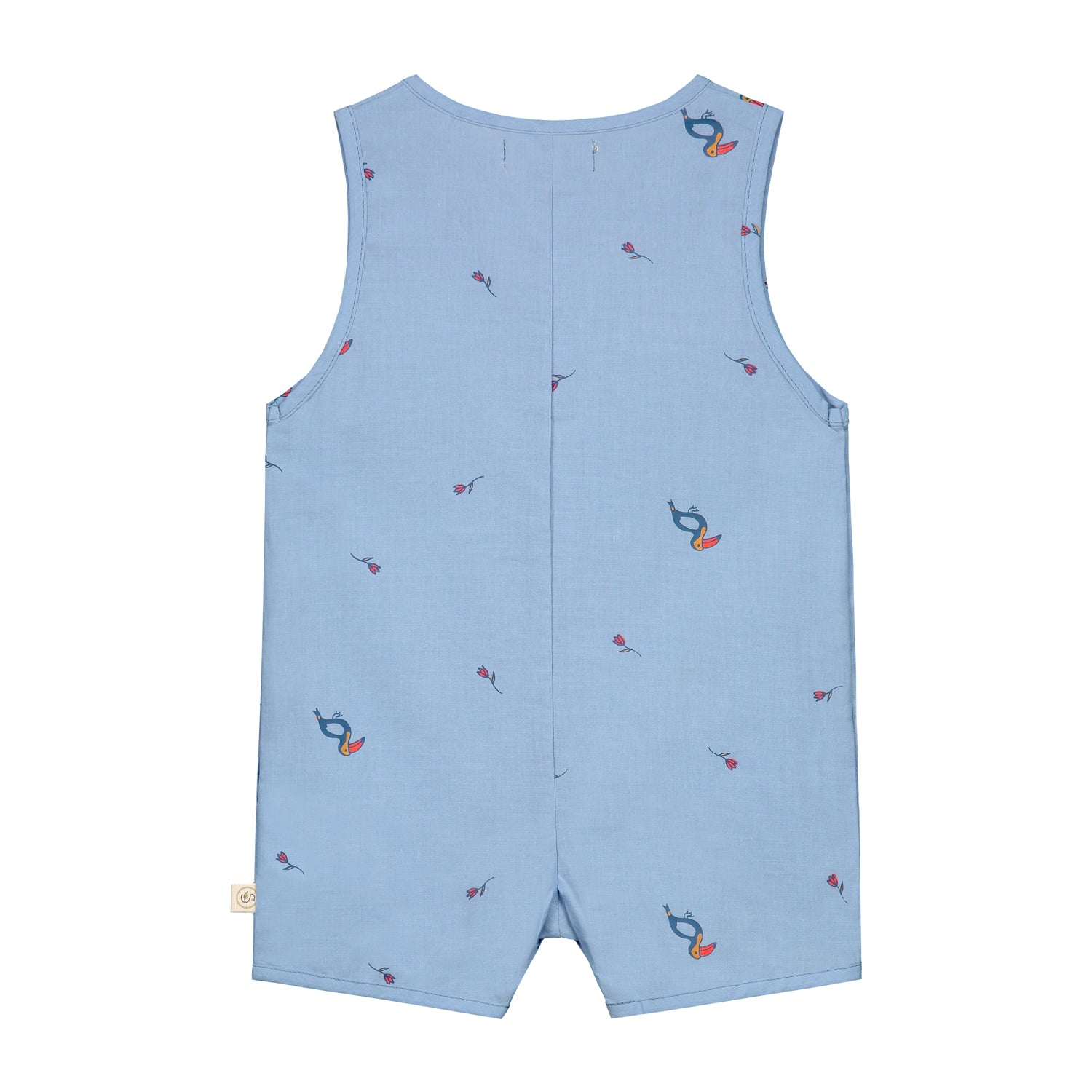 Tropical Toucan sleeveless shortall