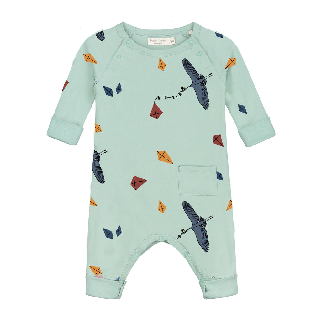 Kite Print Long Sleeve Overall