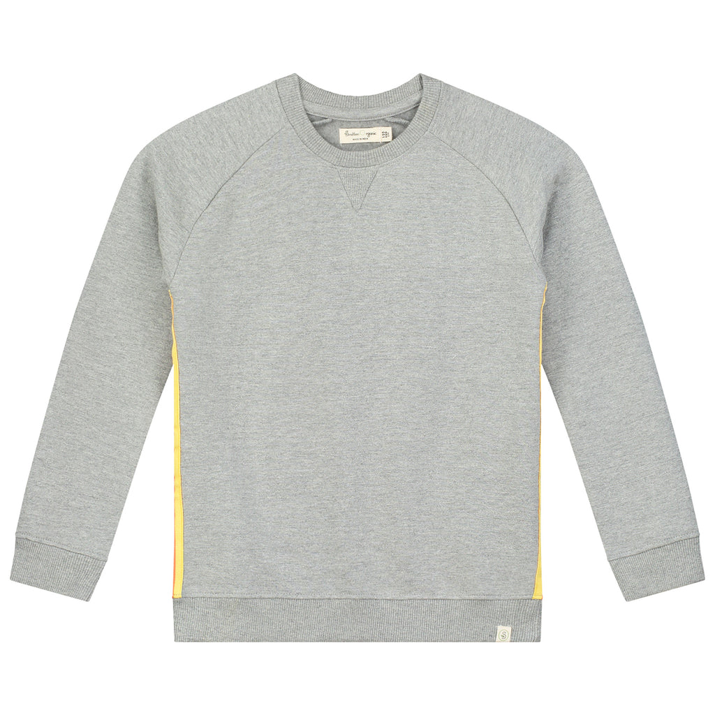Melange Cotton Brushed Fleece Sweatshirt