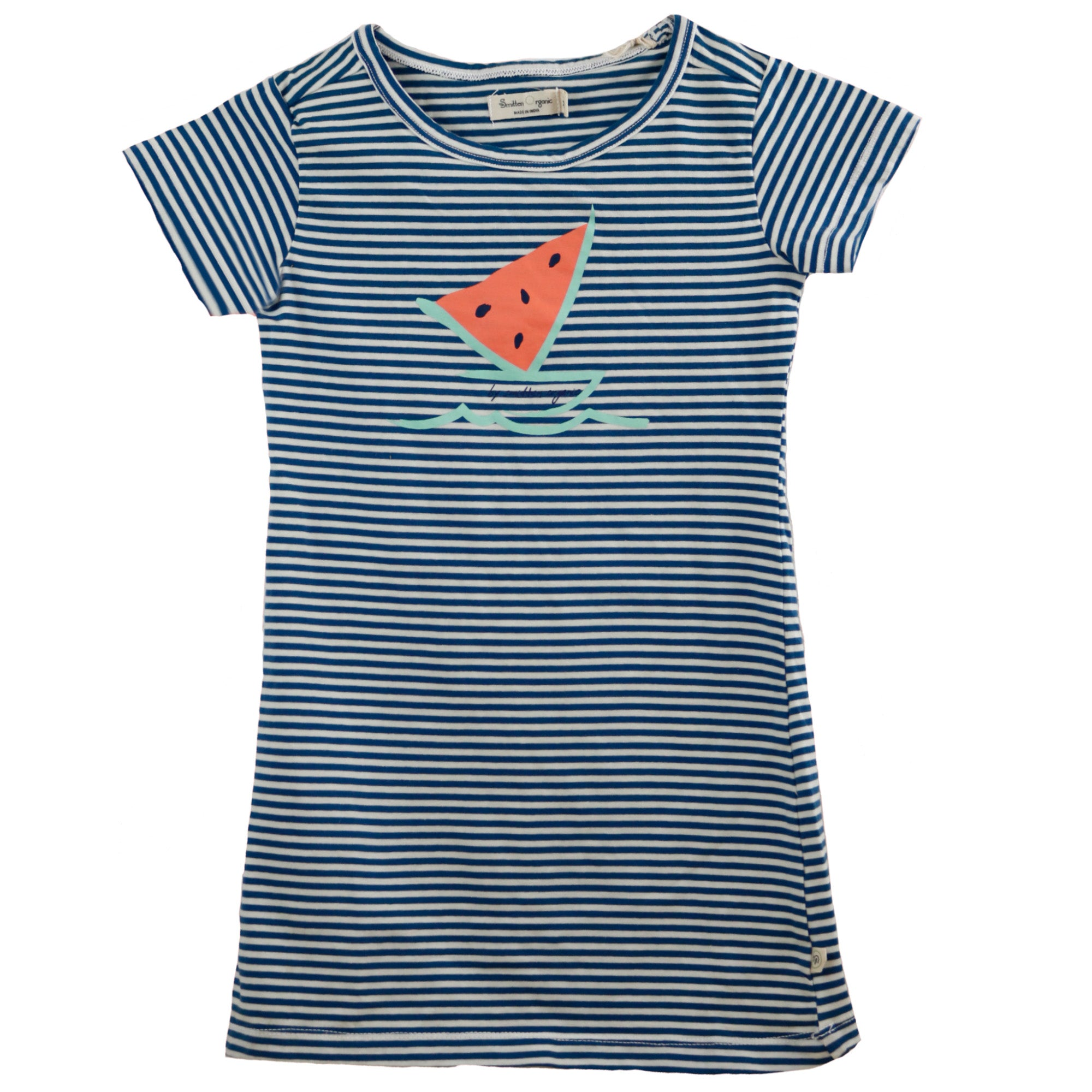 Watermelon Boat Stripe Evase Dress