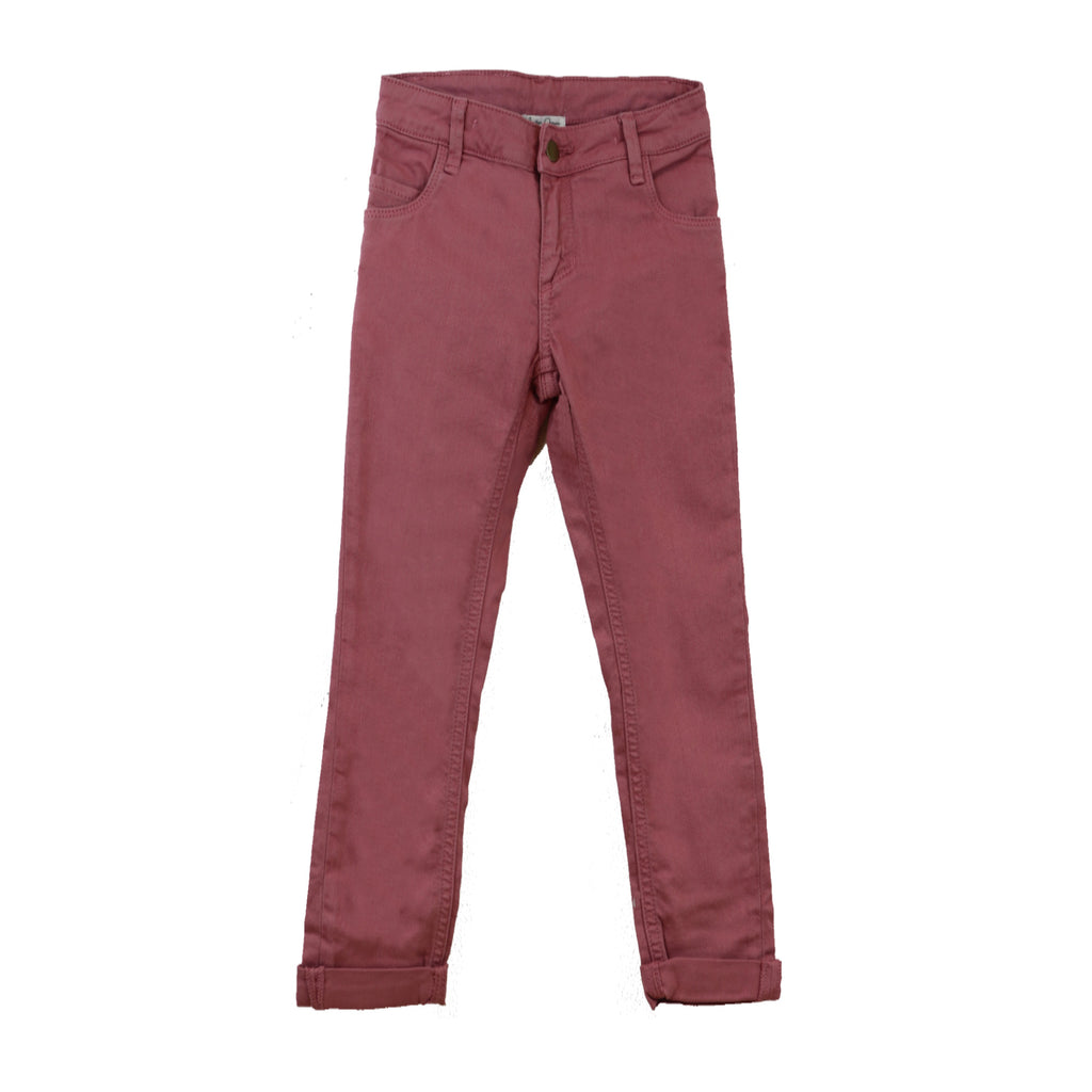 Color Denim Slim Fit Pant