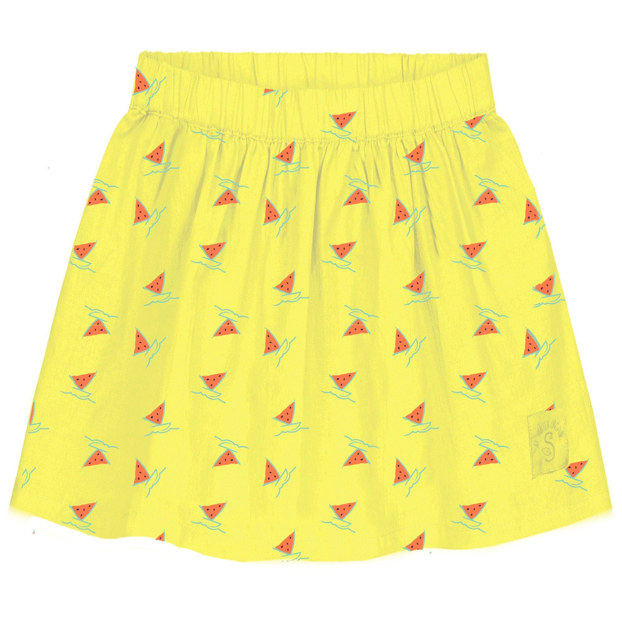 Watermelon Boat Flare Woven skirt