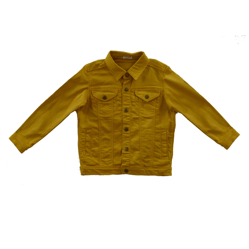 Golden Yellow Denim Jacket