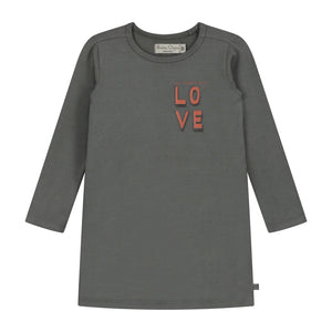 Its All About Love Evasé Gather Long Sleeve Dress