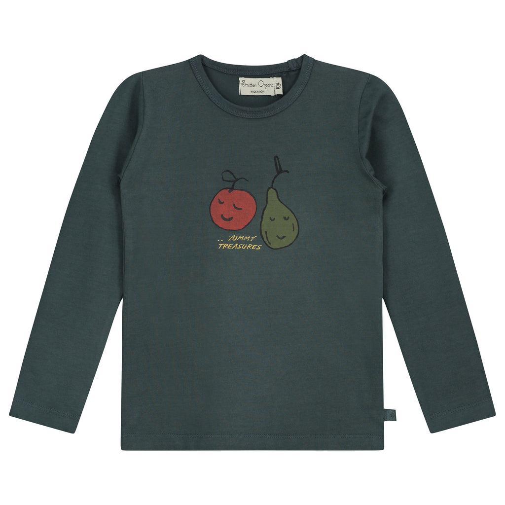 Yummy Treasure Lange Mouw Blauw T-Shirt