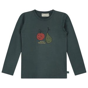 Yummy Teasure Long Sleeve Blue T-Shirt