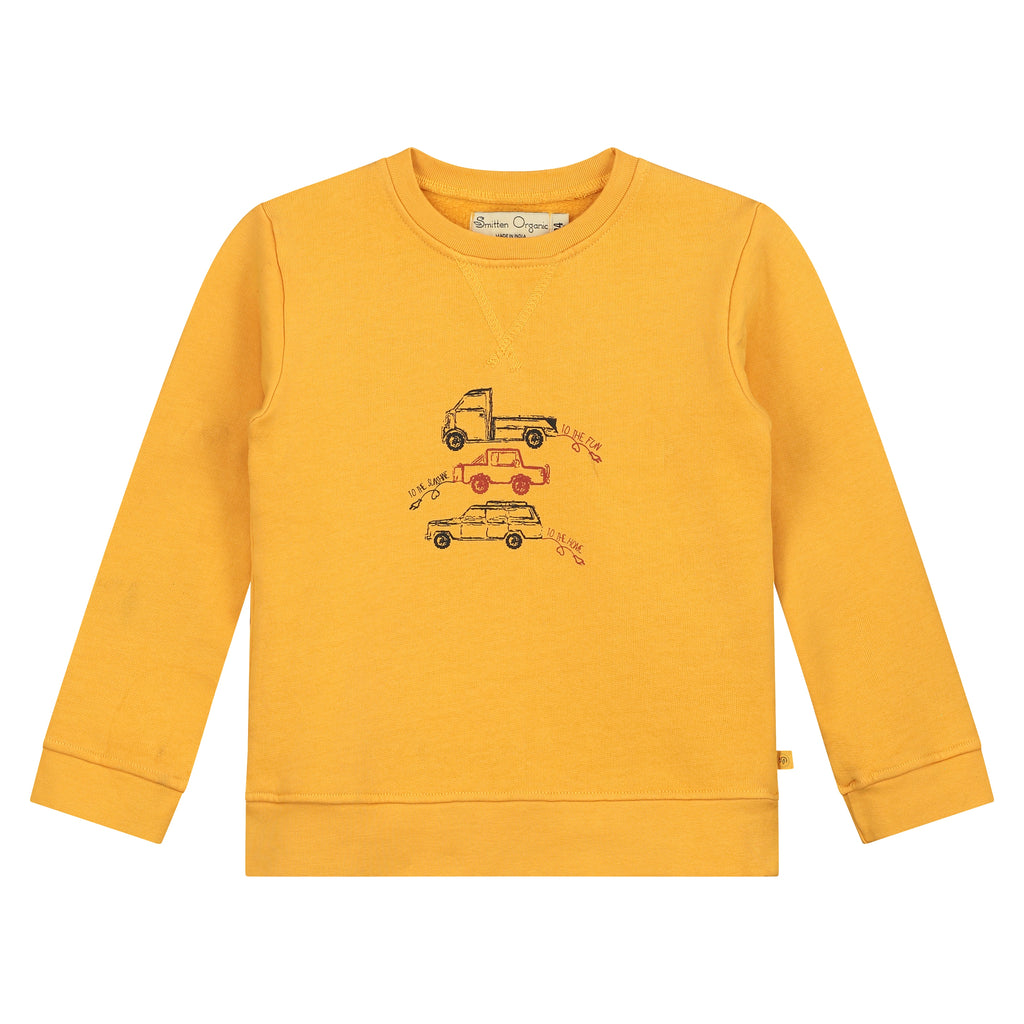 Three Electric Cars On Treasure Hunt Sweatshirt