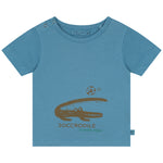 Crocodile playing soccor Unisex T-shirt