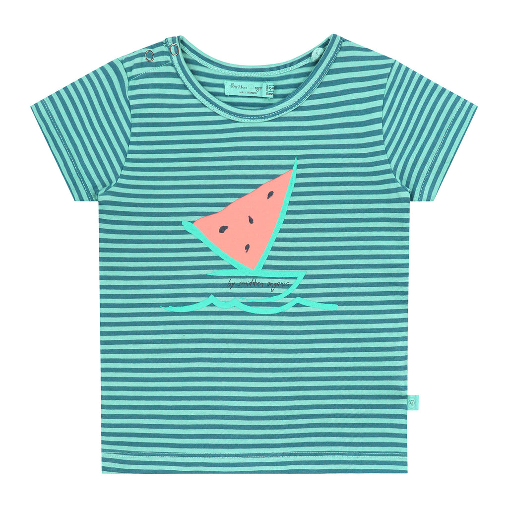 Watermelon Boat Striped T-shirt
