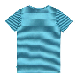 Skateboarding Striped  T-shirt