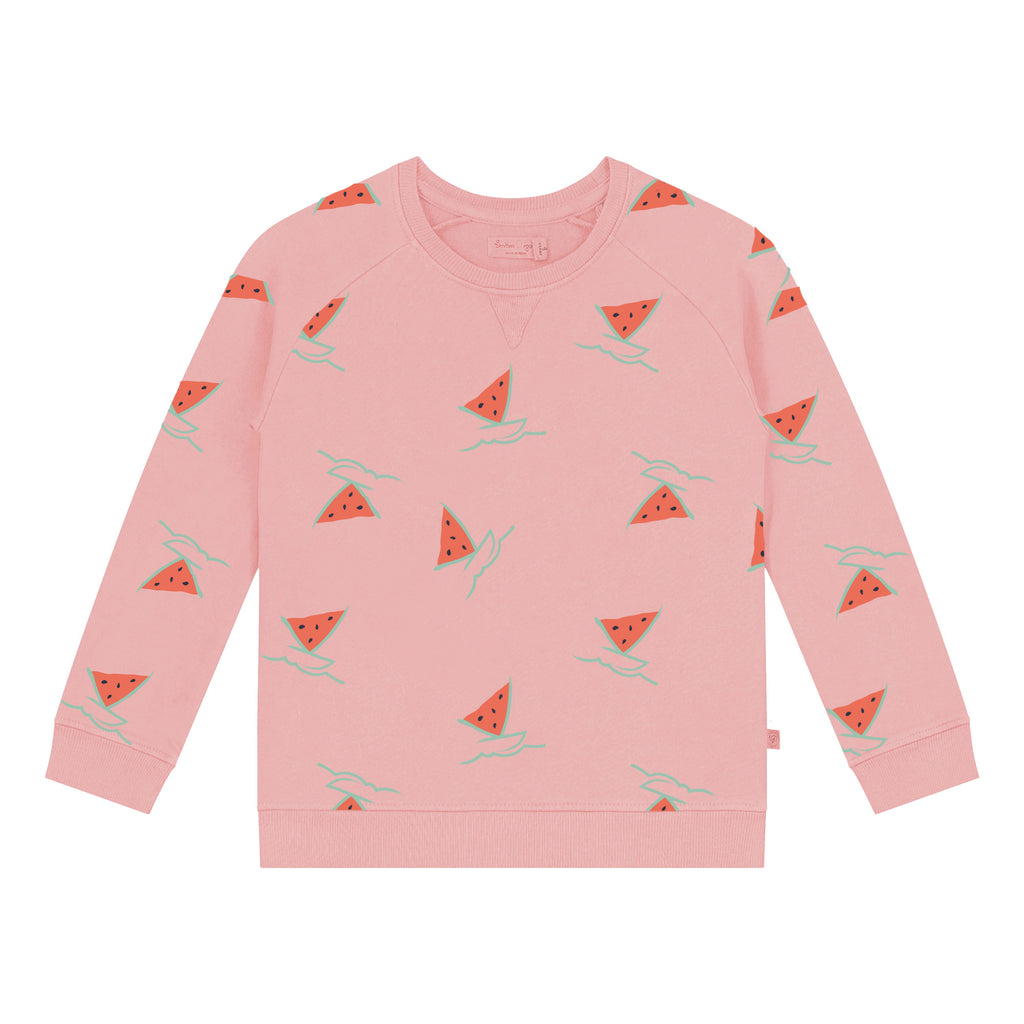 Watermelon Boat Girl Sweatshirt
