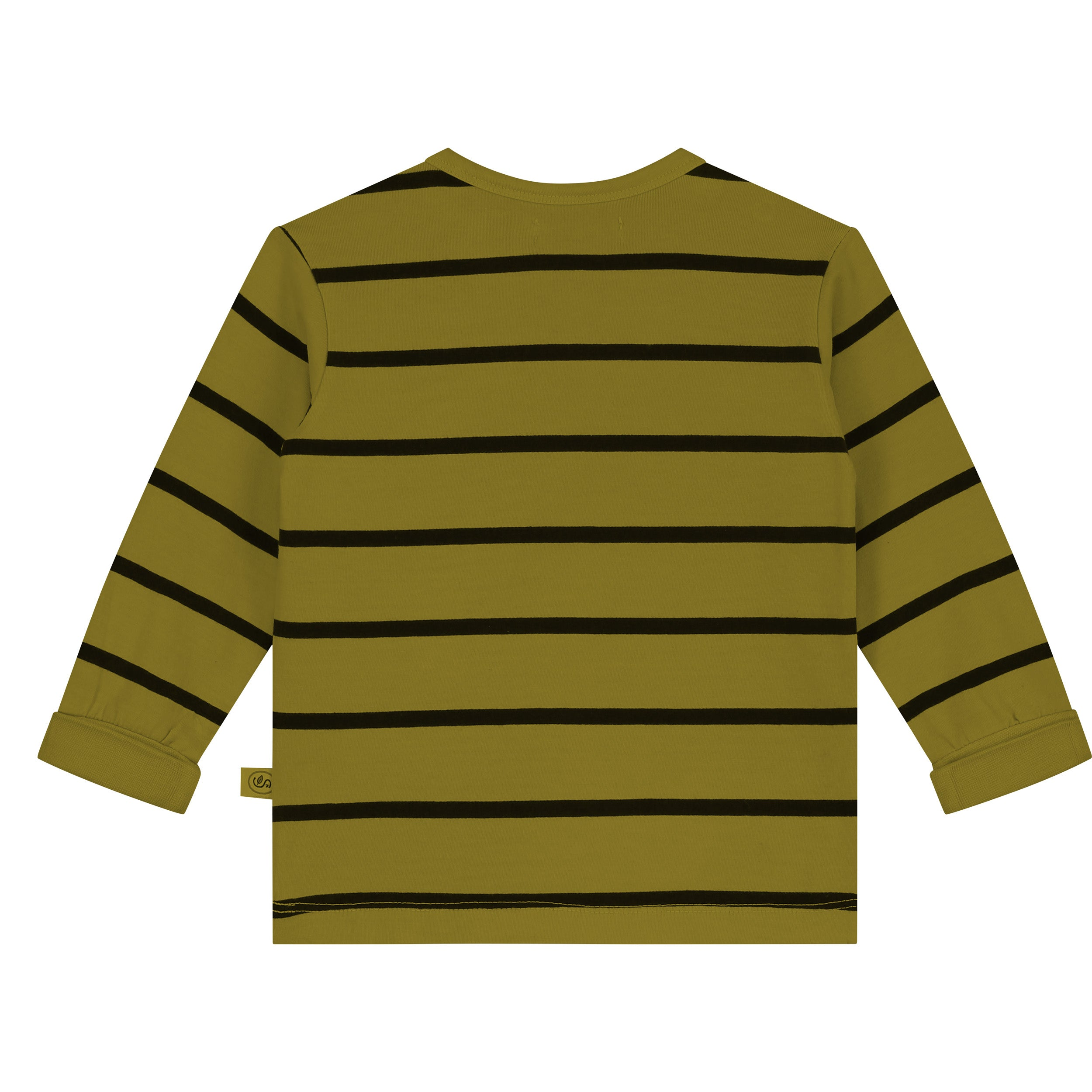 Yarn Dyed Stripes With Groovy Days Print T-Shirt LS