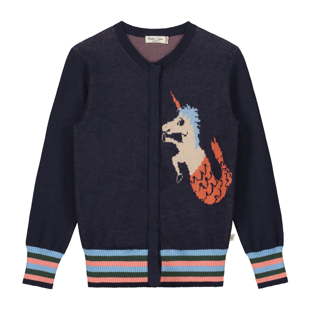 Jaquard  Unicorm Mermaid Cardigan