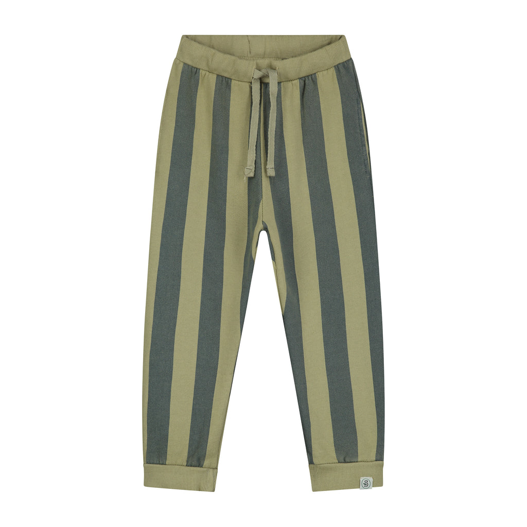 Stripe Print Vintage Wash Sweatpants