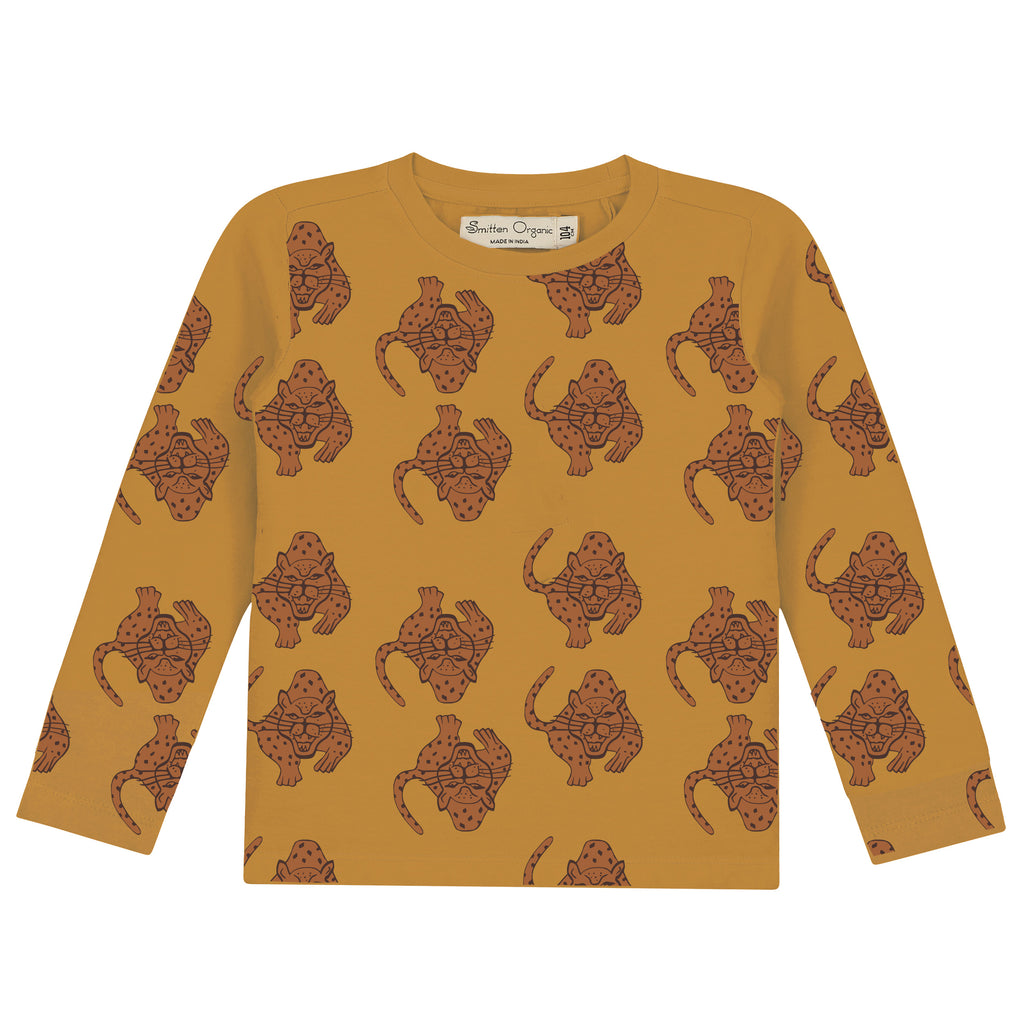 Magical Leopard' All Over Print T-shirt met lange mouwen