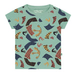All Over Abstract Print T-Shirt SS