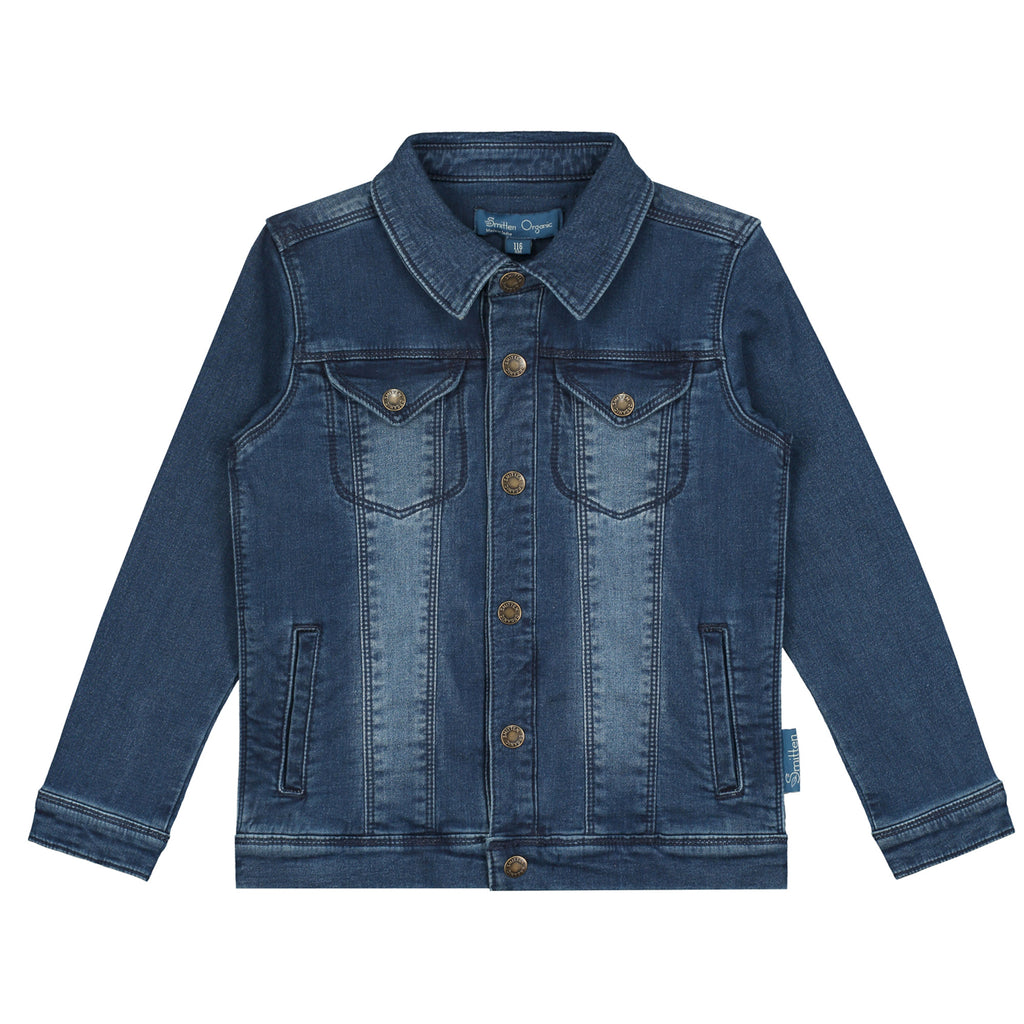 Smitten Organic Denim Jacket with 4 pockets