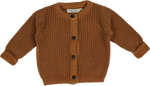 Vintage wash Knitwear Cardigan Brown