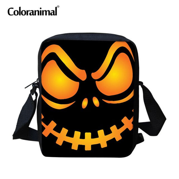 Jack Skellington Printed Students Mini Messenger Bags, Nightmare Before Christmas