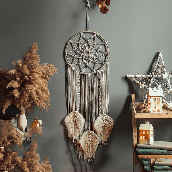Moon And Star Macrame Wall Hanging
